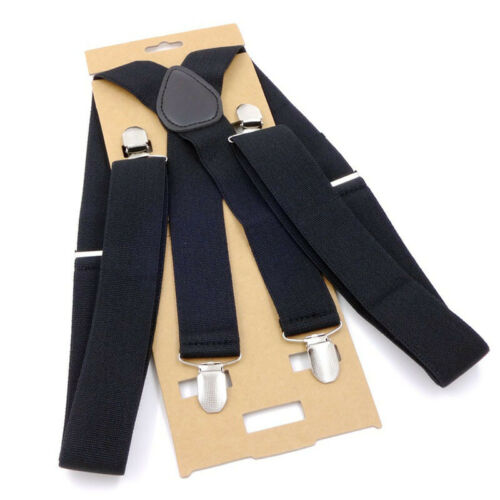 Männer Suspension 4 Clip Verstellbare Elastische Gürtel Zahnspange Strapper 35mm