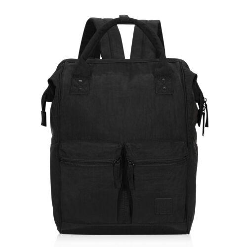 Vintage Doctor Style Shoulder Backpack Purse Retro College Bag w// Front Pockets
