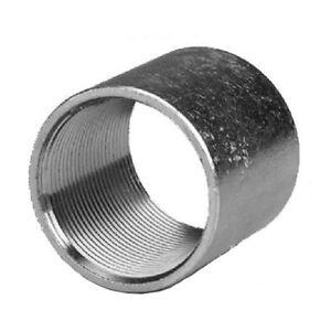 "(10 pc) Galvanized Rigid Coupling Tubular Threaded 1-1/4"" inch Connector Fitting"