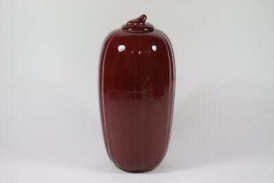 Große chinesische Deckelvase Vase Porzellan weiß glasiert China RK199