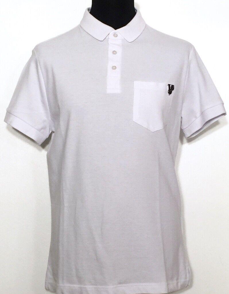VERSACE JEANS Polo Poloshirt weiß Weiß Piquet Gr. 48 50 52 54 56 NEU Etikett