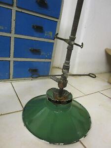 Uralt Gas-Lampe Emaille Deckenlampe vintage Loft Art Deco Lampe Design Hängelamp