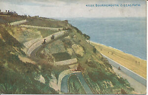 PC21987 Bournemouth. Zig Zag Path. Photochrom. celesque. Nº 42237. 1910