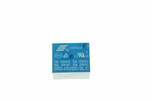 1Pcs SRD-05VDC-SL-C Courant Direct cote 5 V Bobine Simple pole Double Throw miniature relais de puissance bleu