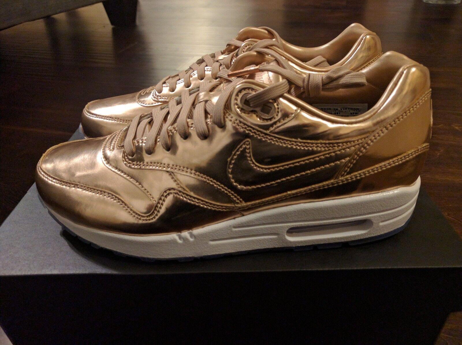 nike air max 1 premium bronze - id flüssige metall bronze premium metallischen rose gold yeezy wmns 8,5 abb235