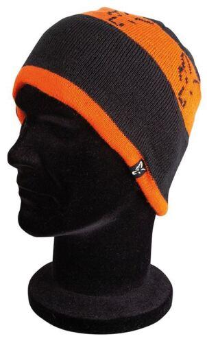 Carp Fishing Clothing Fox Beanie Black /& Orange