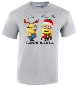 image is loading adults minions i 039 m rudolph i 039 - Minion Christmas Shirt