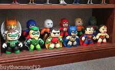 CUSTOM DC MIGHTY MUGGS SUPERHERO LOT- COLLECTION OF 12 -BATMAN-ROBIN-SUPERMAN+++