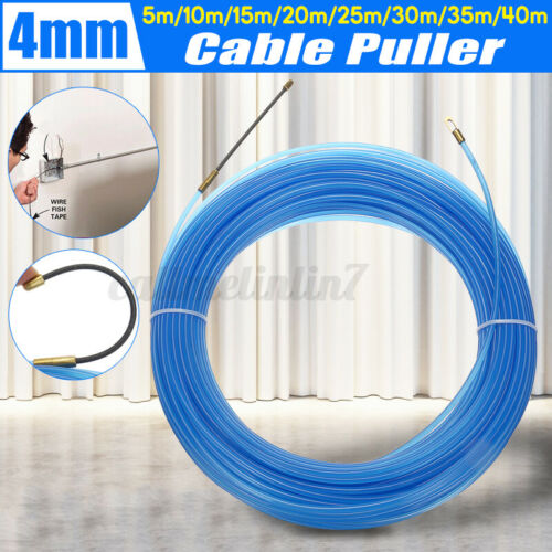 5M-40M 4mm Wire Cable Puller Pulling Electrical Nylon Fish Draw Ta