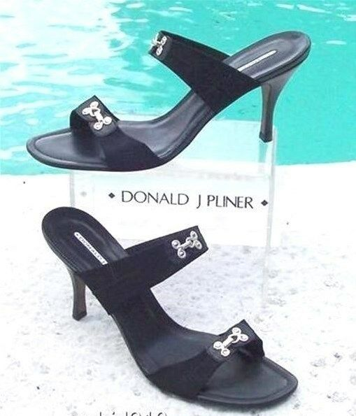 Donald Pliner Couture Mesh Bra Hook Sandal scarpe New 11 Patent Leather  235 NIB