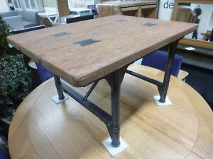 magasin d'usine cdb25 dcdf3 Détails sur Compact Vintage industrielle recyclée Chêne & Métal Table Basse  * magasin de meubles *- afficher le titre d'origine