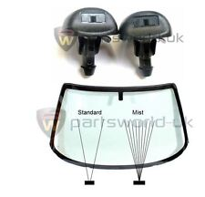 Pair of Front Mist Type Windscreen Water Washer Spray Jets Fiat Citroen Peugeot