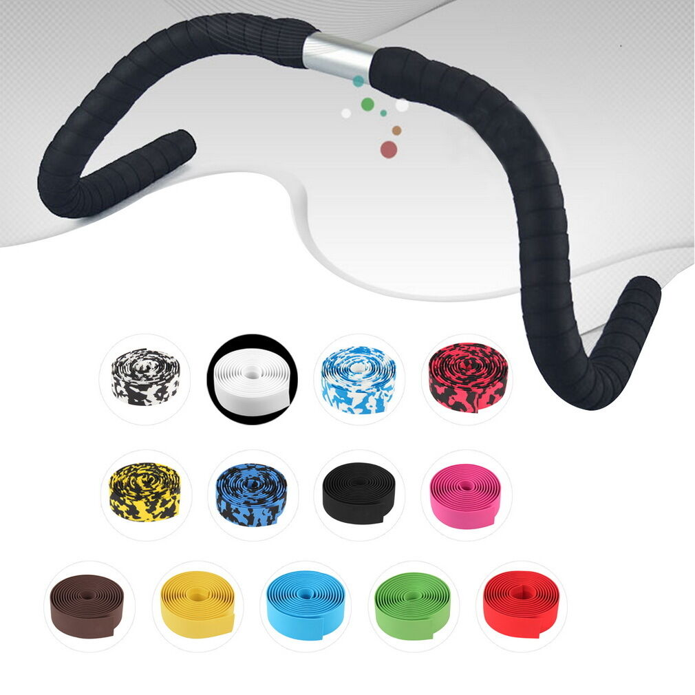 Handlebar Tape Bicycle Road Cycling Bike Cork Grip Wrap Ribbon Tape Bar Plug US Bicycle Components & Parts