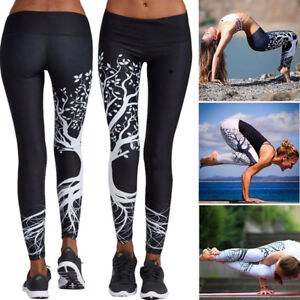 Sport Gym Crop Leggings Uk C111 Pantaloni Top da jogging Esercizio Womens Fitness Yoga ZxnnqY0O