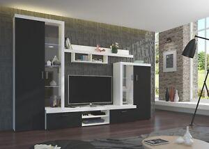 Details zu Wohnwand Finea Anbauwand Wohnzimmer Schrankwand Wonhnzimmer-Set  Modern Design