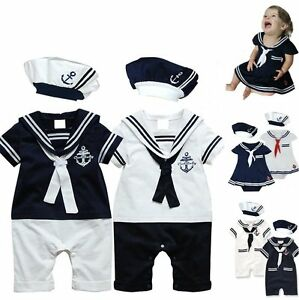 Baby-Boy-Girl-Carnival-Sailor-Nautical-Fancy-Party-Costume-Outfit-Clothes-Dress