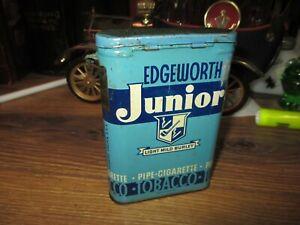 EDGEWORTH-JUNIOR-TOBACCO-TIN-RUBBED-VERTICAL-POCKET-CAN-LARUS-BROS-ORIGINAL-J