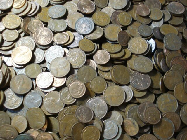 Australia 1 Cent 2 Cent  Copper Coin Bulk Almost 1/2 Kilo