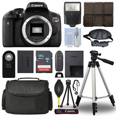Canon EOS Rebel T6i 24.2 MP Digital SLR Camera Body + 32GB Top Accessory Bundle