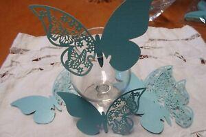 Segnaposto Matrimonio Tiffany.125 Farfalle Azzurro Tiffany Segnaposto Cm 11x7 Per