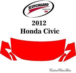 3M Scotchgard Paint Protection Film Clear Bra Pre-Cut Fits 2012 Honda Civic