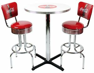 Good Image Is Loading Coca Cola Pub Table Amp Bar Stools W