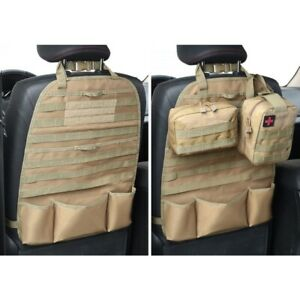 Molle Voiture Siège Arrière Organizer Siège Molle Geocahing Sac Modulaire Beige