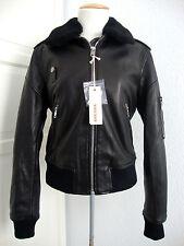 DIESEL L COLLAR GIACCA Leather Jacket Damen Lederjacke Jacke Gr.M NEU ETIKETT