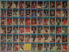 1989-90 OPC '89 O-Pee-Chee Partial UNCUT Sheet Panel 66 Cards Hull Gretzky NM