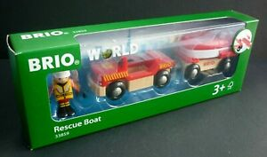 BRIO-World-Fire-amp-Rescue-for-Wooden-Train-Set-Rescue-Life-Boat-33859-Ages-3