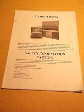Thomson Multimedia CTC210/11 Training Safety Info Guide Manual *FREE SHIP*