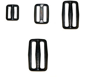 Delrin-Three-Bar-Slides-Buckles-For-Webbing-20mm-25mm-40mm-and-50mm