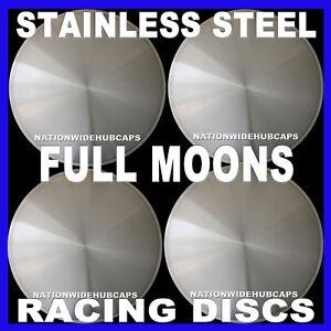 16-034-FULL-MOON-HOT-ROD-RACING-DISC-HUB-CAPS-SOLID-WHEEL-COVERS-RIMS-New-Set-of-4