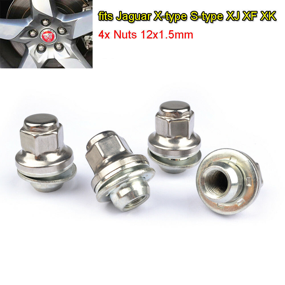 Für Jaguar S-type X-type 5x Radschrauben Radbolzen Schrauben Flachbund M12×1,5