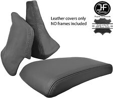 DARK GREY LEATHER SHIFT E BRAKE BOOT ARMREST COVER FITS TOYOTA SUPRA MK3 86-92