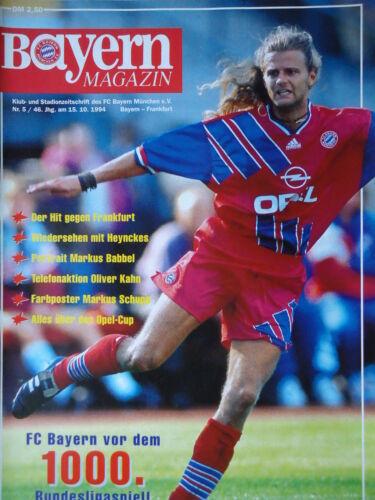 Eintracht Frankfurt Programm 1994//95 FC Bayern München