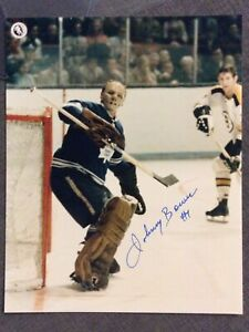 AUTOGRAPHED..JOHNNY BOWER TORONTO MAPLE LEAFS 8X10 PHOTO HAND SIGHED