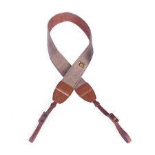 Camera Shoulder Neck Strap Belt for Nikon Sony SLR DSLR Stripe Brown LW