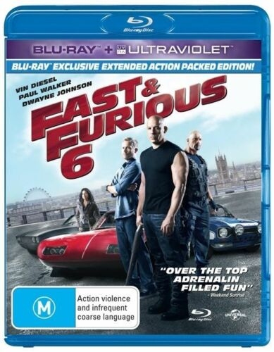 1 of 1 -  FAST & FURIOUS 6 - BLU RAY + ULTRAVIOLET..NEW & SEALED   dvd282