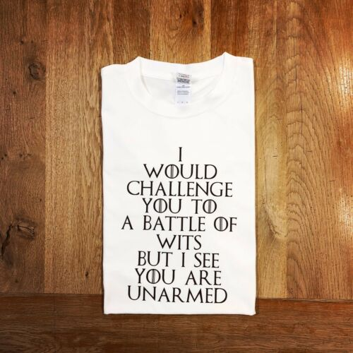 Funny Shakespeare GOT Parody Tee Sillytees Battle of Wits T-shirt