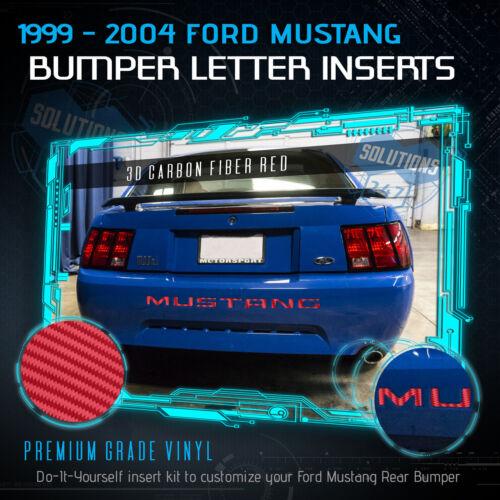 3D Carbon Fiber For 1999-2004 Ford Mustang Bumper Insert Vinyl Decal Letters