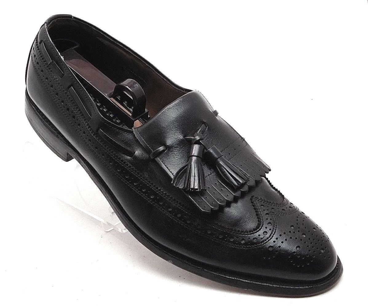 Allen Wing Edmonds Arlington Black Leather Wing Allen Tip Tasseled Men's Shoes  11A   (sh2) 9a0178