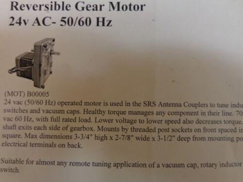 MK QFS3420R Reversible Gear Motor 24 Volt