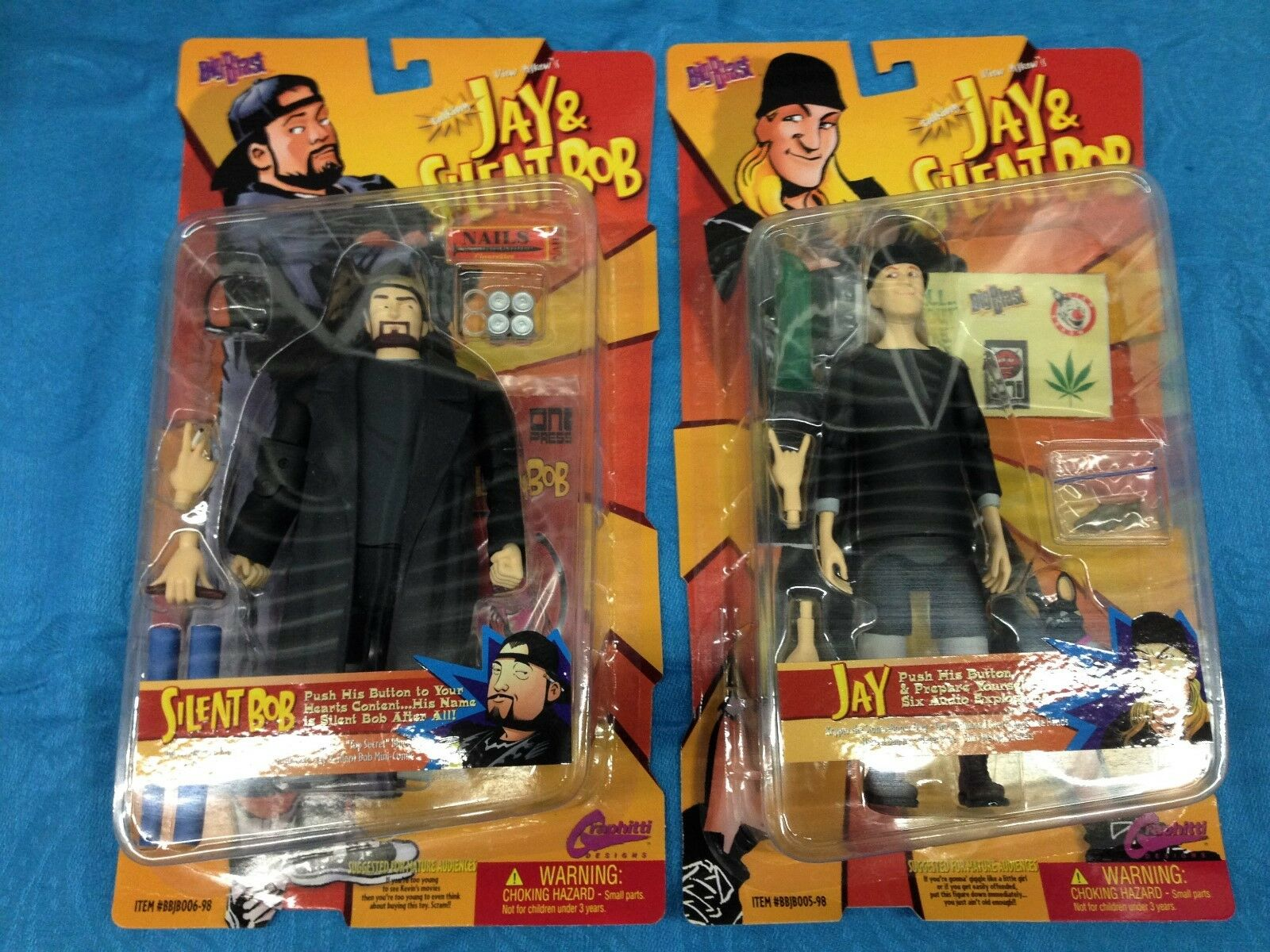 Jay and Silent Bob Action Figures - Graphitti - Kevin Smith