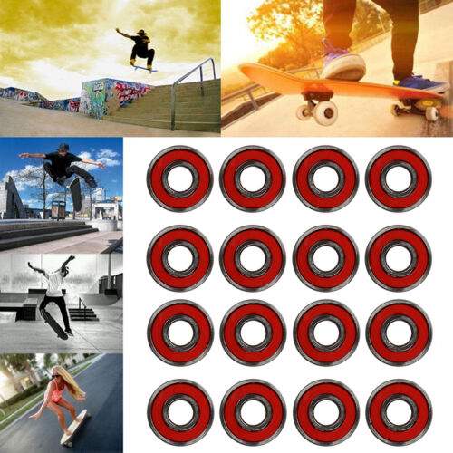 7 Bearings 9/ABEC Rollen Kugellager für Skateboard Longboard·Chromstahl8pc ABEC
