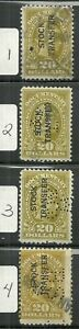 U.S. Revenue Stock Transfer stamp Scott rd18 - $20.00 issues of 1921  #2