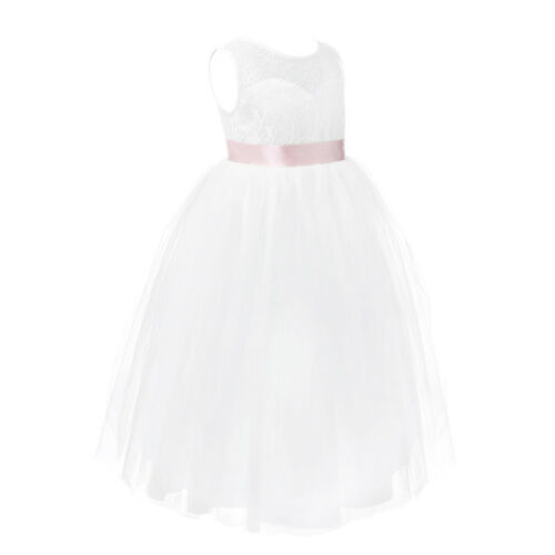 Flower Girl Dress Kid Pageant Formal Communion Party Wedding Bridesmaid Princess