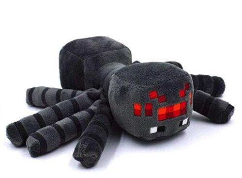 Black Spider Plush 12 inch Minecraft theme Halloween decor 30 CM