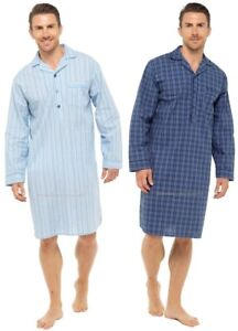 Mens Cotton Long Sleeve Dressing Gown Robe NAVY BLUE TEAL M 5xl Sleep LOUNGE