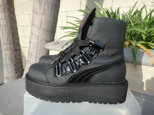 f4df4e1bccf840 Fenty PUMA Rihanna SB Eyelet Mens Sz 10 Black Sneaker Boot 363040 01 ...